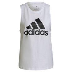 adidas Womens Essentials Big Logo Tank, White, rebel_hi-res