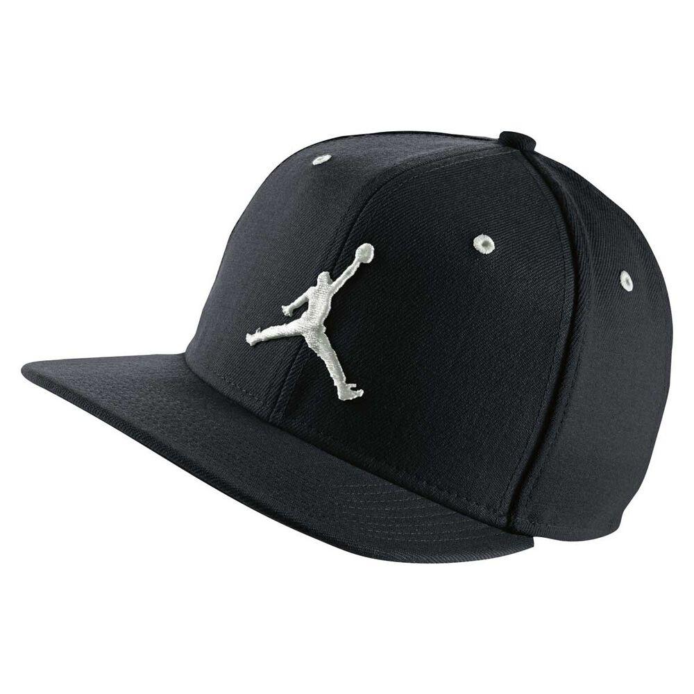 Nike Jordan Jumpman Snapback Hat Black   White  c84c3f8368a