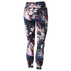Ell & Voo Womens Kara 7/8 Printed Tights Print XS, Print, rebel_hi-res