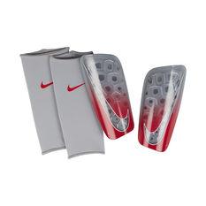 Nike Mercurial Lite Football Shin Guards Grey / Red S, Grey / Red, rebel_hi-res