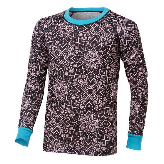 Tahwalhi Girls Peak Printed Thermal LS Ski Top, Print, rebel_hi-res