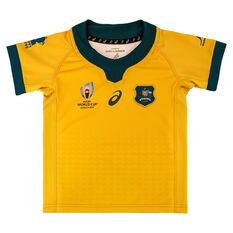 Wallabies 2019 Rugby World Cup Infants Home Jersey Gold 4, Gold, rebel_hi-res