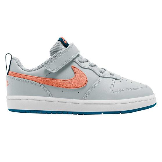 Nike Court Borough Low 2 Kids Casual Shoes Blue/Coral US 3, Blue/Coral, rebel_hi-res