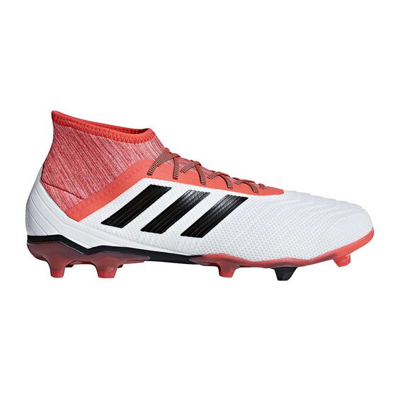 c55405245ee adidas Predator 18.2 FG Mens Football Boots White   Black US 7 Adult ...