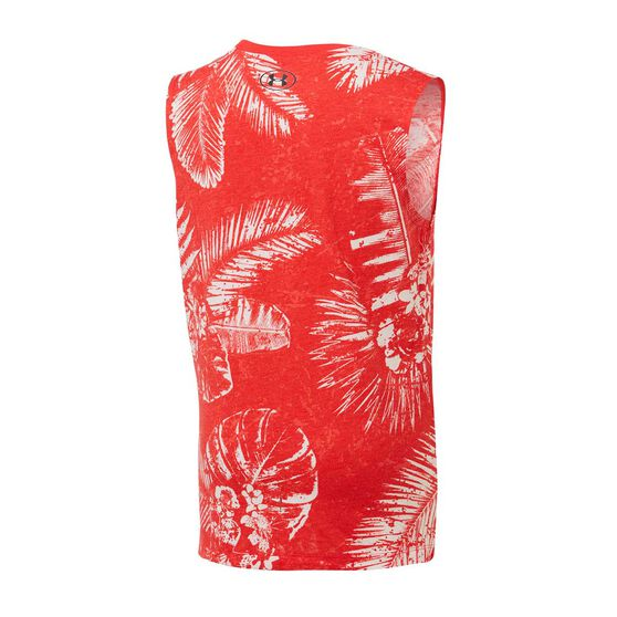 Under Armour Boys Project Rock Brama Bull Aloha Muscle Tank Red / Black S, Red / Black, rebel_hi-res