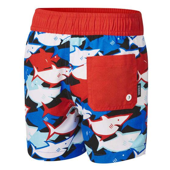 Tahwalhi Boys Shark Bait Board Shorts, Black, rebel_hi-res