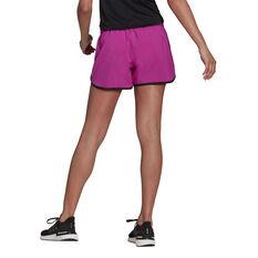 adidas Womens Marathon 20 Running Shorts Pink XS, Pink, rebel_hi-res