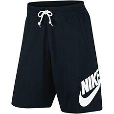 Nike Mens Sportswear Vintage Shorts Black / White S Adult, Black / White, rebel_hi-res