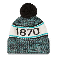 Port Adelaide New Era Authentic Knit Beanie, , rebel_hi-res