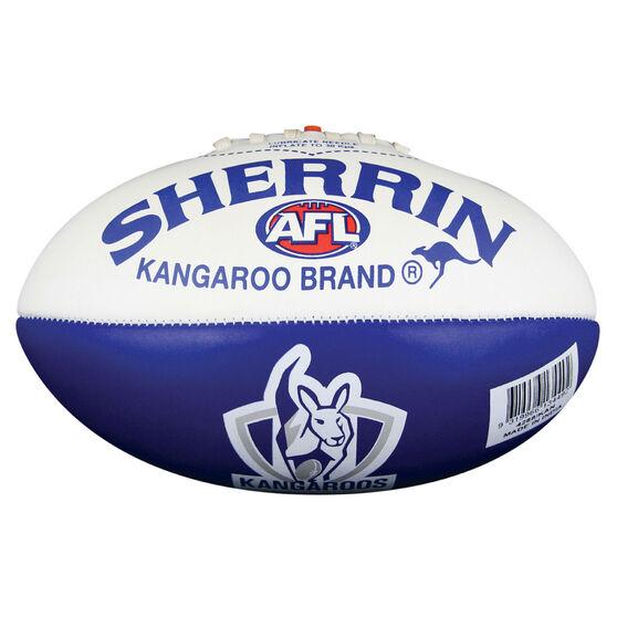 Sherrin AFL North Melbourne Kangaroos Softie Ball, , rebel_hi-res