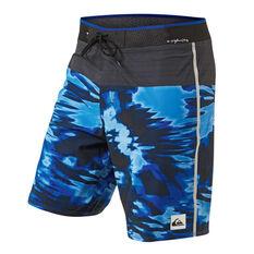 Quiksilver Mens Highline Blackout 19in Board Shorts Blue 30, Blue, rebel_hi-res