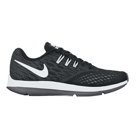 size 40 02273 997ce Nike Air Zoom Winflo 4 Womens Running Shoes Black  White US 9.5, Black