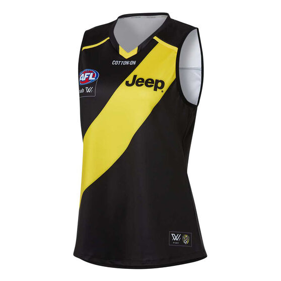 Richmond Tigers AFLW 2020 Womens Home Guernsey, Black/Yellow, rebel_hi-res