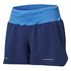 Asics Womens Lite Show Running Shorts Blue S 5a6a053943d