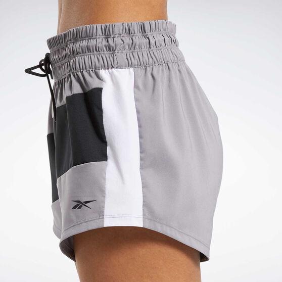 Reebok Womens Workout Ready Woven Shorts, Grey, rebel_hi-res