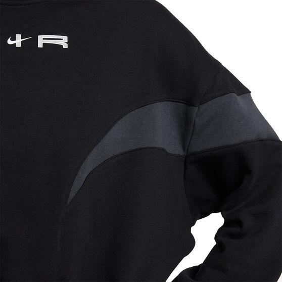 Nike Air Womens Mock Fleece Sweatshirt, Black, rebel_hi-res