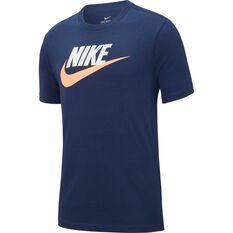 f2f23e60c43a5 Nike Mens Sportswear Icon Futura Tee Navy XS