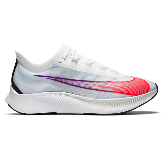 Nike Zoom Fly 3 Mens Running Shoes, White/Crimson, rebel_hi-res