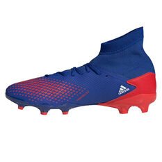 adidas Predator 20.3 Football Boots Blue/White US Mens 7 / Womens 8, Blue/White, rebel_hi-res