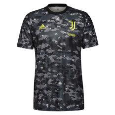 Juventus FC 2021/22 Mens Pre-Match Jersey Black S, Black, rebel_hi-res