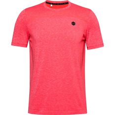 Under Armour Mens Rush Seamless Fitted Tee Red S, Red, rebel_hi-res