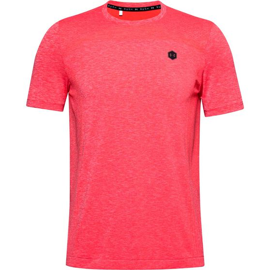 Under Armour Mens Rush Seamless Fitted Tee, , rebel_hi-res