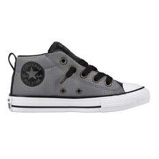 Converse Chuck Taylor All Star Street Back Pack Kids Casual Shoes Grey / Black US 1, Grey / Black, rebel_hi-res