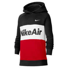 Nike Air Boys Hoodie Black XS, Black, rebel_hi-res