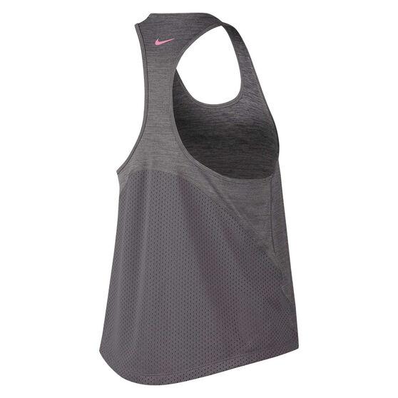 Nike Womens Miler Hyper Femme Running Tank Grey XL, Grey, rebel_hi-res