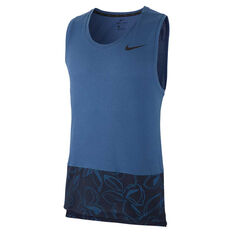Nike Mens Dri-FIT HPR Training Tank Navy M, Navy, rebel_hi-res