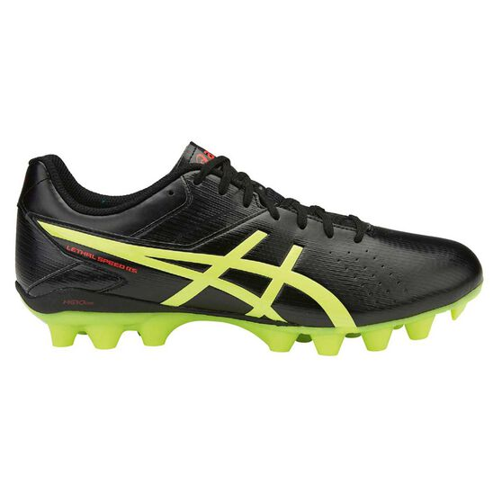 cbc8114f277 Asics Lethal Speed RS Mens Football Boots Black / Yellow US 9.5 Adult,  Black /