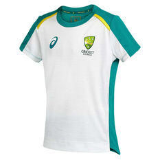 Cricket Australia 2020/21 Kids Training Tee Grey 6, Grey, rebel_hi-res