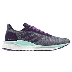 adidas Solar Drive ST Womens Running Shoes Green / Purple US 6, Green / Purple, rebel_hi-res