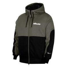 Nike Air Mens Full Zip Hoodie Khaki XS, Khaki, rebel_hi-res