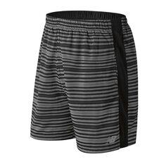 New Balance Mens Accelerate 7in Running Shorts Black / Print S Adult, Black / Print, rebel_hi-res