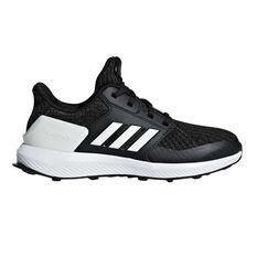 adidas RapidaRun Knit Junior Running Shoes Black / White US 11, Black / White, rebel_hi-res