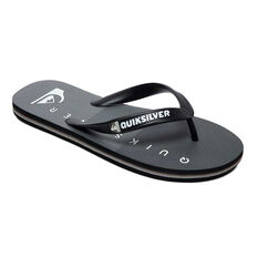 Quiksilver Molokai Massive Kids Thongs Black / Grey US 2, Black / Grey, rebel_hi-res