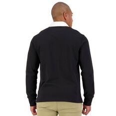 Retro Mens Long Sleeve Jersey, Black, rebel_hi-res