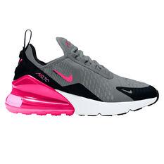 Nike Air Max 270 Kids Casual Shoes Black/Pink US 4, Black/Pink, rebel_hi-res