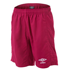 Umbro Kids Junior League Knit Shorts Claret 6, Claret, rebel_hi-res