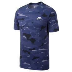 Nike Sportswear Mens Camo Pack Tee Carbon S, Carbon, rebel_hi-res