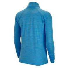 Nike Womens Pacer 1/2 Zip Running Top Blue XS, Blue, rebel_hi-res