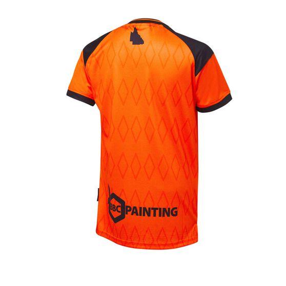 Brisbane Roar FC 2020/21 Junior Home Jersey, Orange, rebel_hi-res