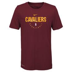 Nike Youth Cleveland Cavaliers Practice Tee Maroon S, Maroon, rebel_hi-res