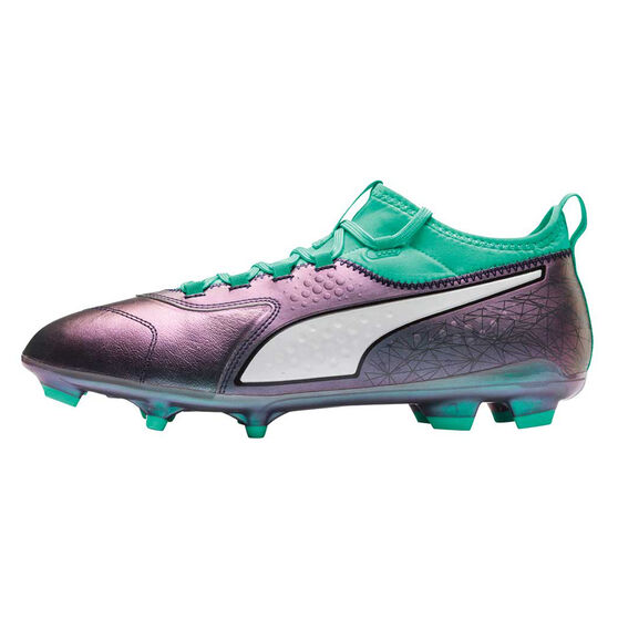 Puma One 3 Mens Football Boots, Green / White, rebel_hi-res