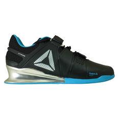 Reebok Legacy Lifter Mens Training Shoes Black / Blue US 7, Black / Blue, rebel_hi-res