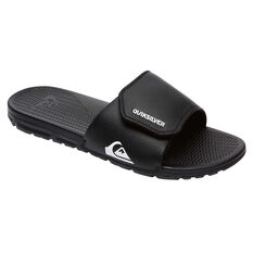 Quiksilver Kids Shoreline Adjust Slides; Quiksilver Kids Shoreline Adjust Slides Black / White US 1, Black / White, rebel_hi-res