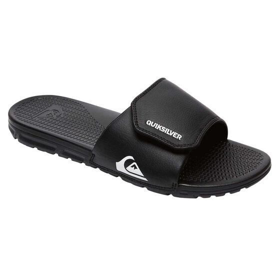 Quiksilver Kids Shoreline Adjust Slides; Quiksilver Kids Shoreline Adjust Slides, Black / White, rebel_hi-res