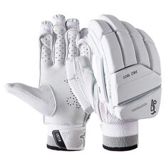 Kookaburra Ghost Pro 1800 Cricket Batting Gloves White / Silver Right Hand, White / Silver, rebel_hi-res