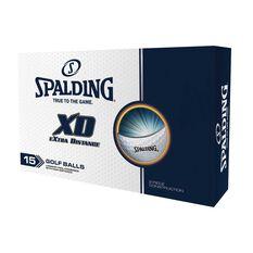 Spalding XD 15 Pack Golf Balls White, , rebel_hi-res